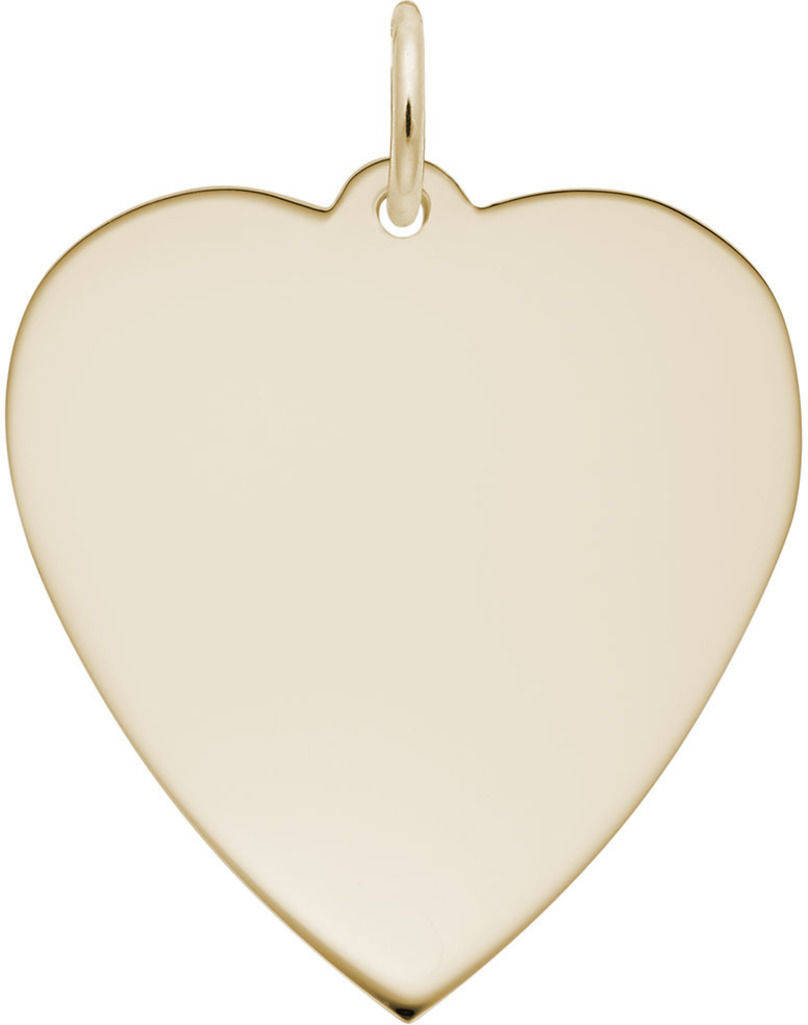 Large Classic Heart Charm (Choose Metal) by Rembrandt