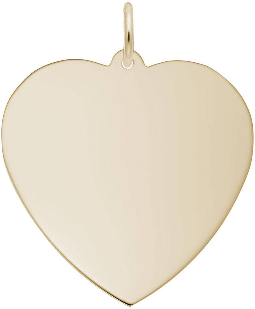 Extra Large Classic Heart Charm (Choose Metal) by Rembrandt