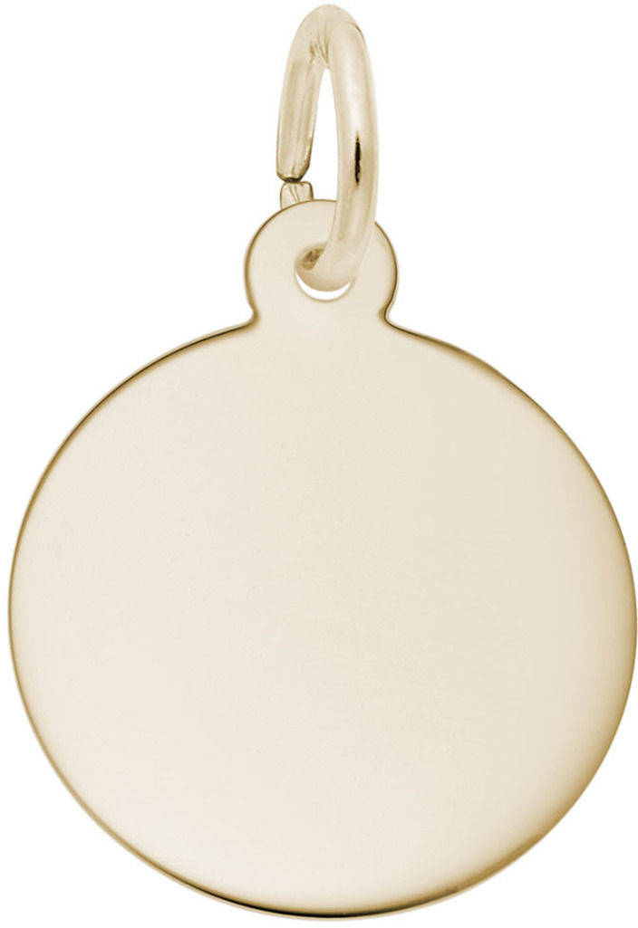 Extra Small Round Charm (Choose Metal) by Rembrandt