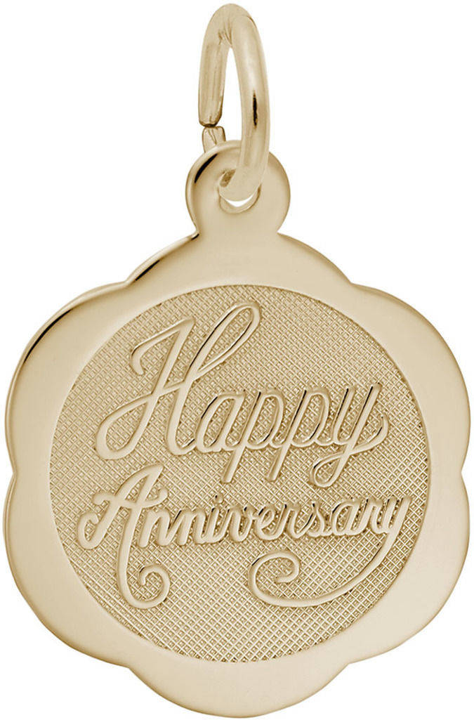 Happy Anniversary Charm (Choose Metal) by Rembrandt