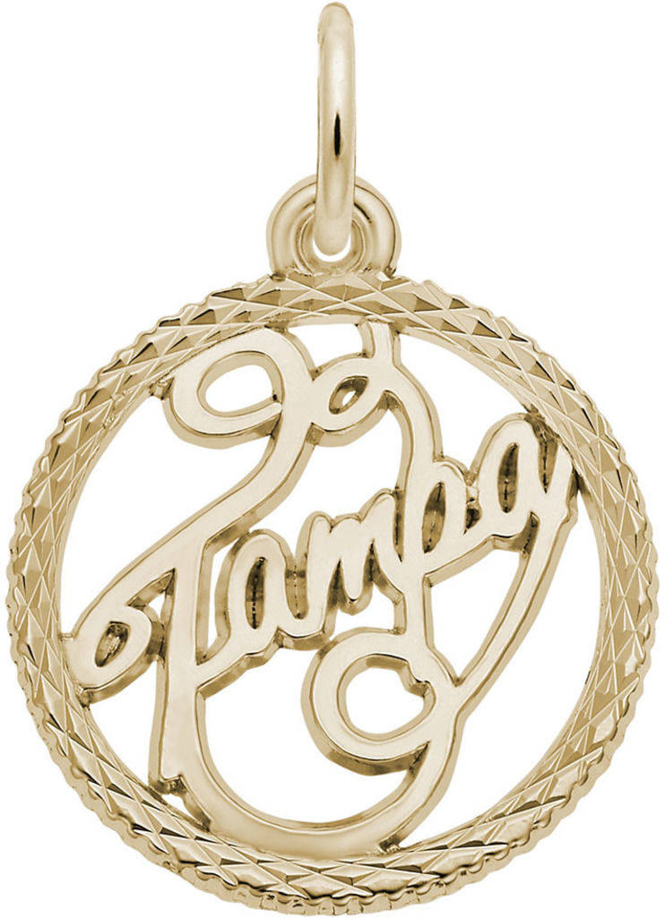 Tampa Faceted Charm (Choose Metal) by Rembrandt