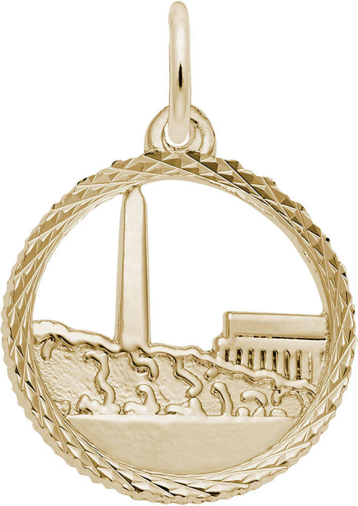 Washington Monument Open Charm (Choose Metal) by Rembrandt