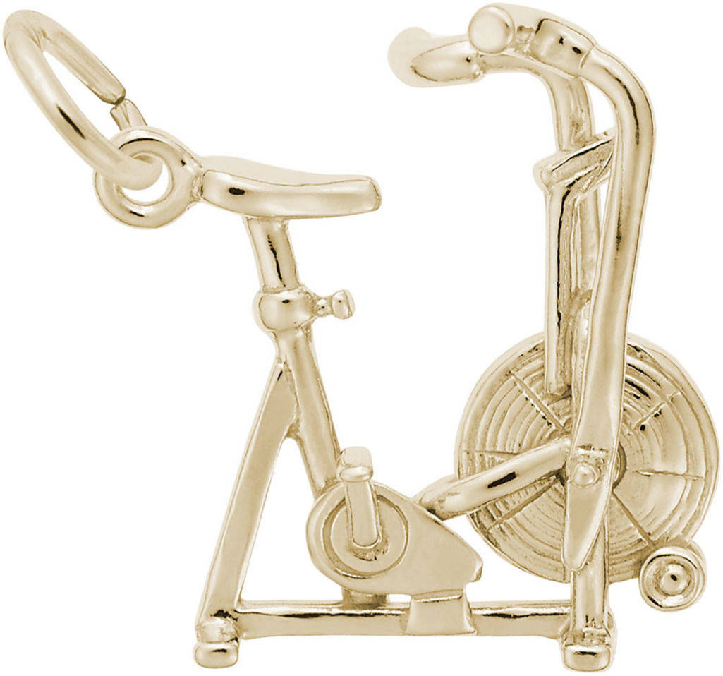 Exercise Bike Charm (Choose Metal) by Rembrandt