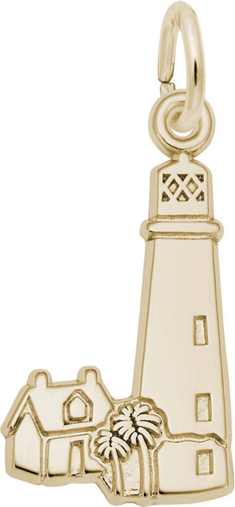 Cape Florida Lighthouse Charm (Choose Metal) by Rembrandt
