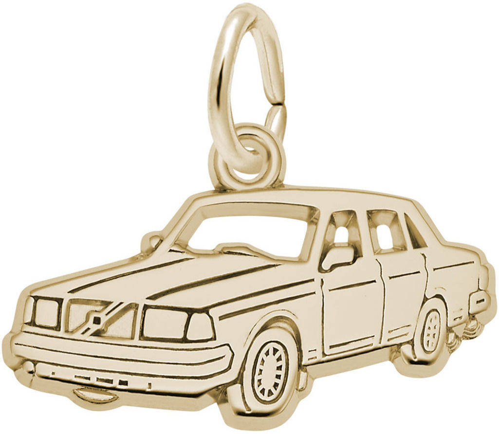 Flat Mid-Size Luxury Car Charm (Choose Metal) by Rembrandt