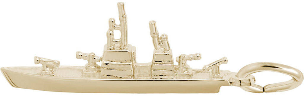 Naval Ship Charm (Choose Metal) by Rembrandt