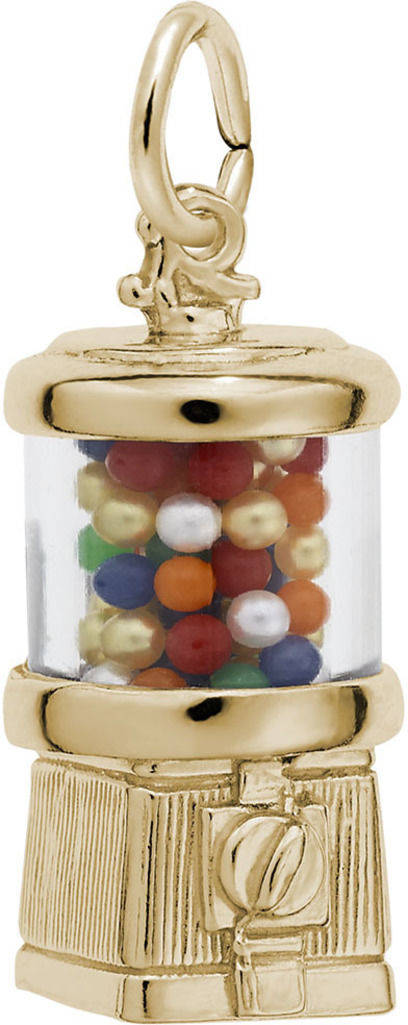 Gumball Machine Charm w/ Multicolor Beads (Choose Metal) by Rembrandt