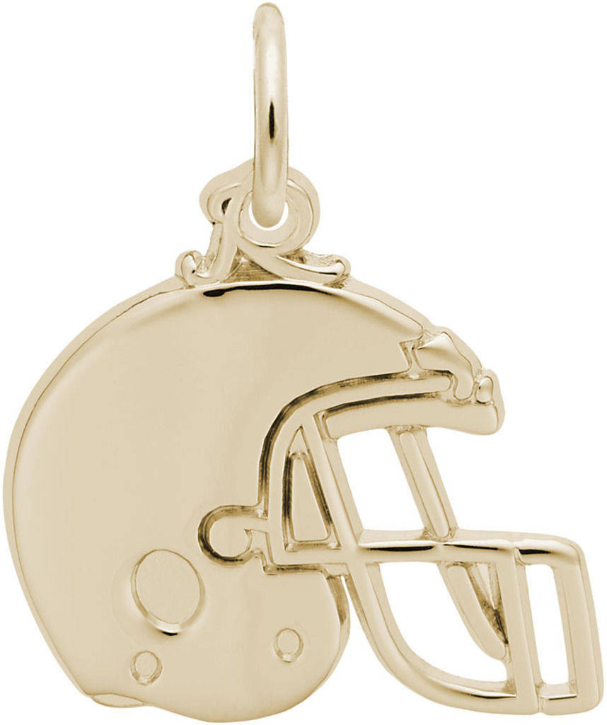 Football Helmet Charm (Choose Metal) by Rembrandt
