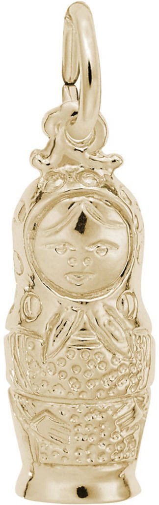 Small Matryoshka Doll Charm (Choose Metal) by Rembrandt