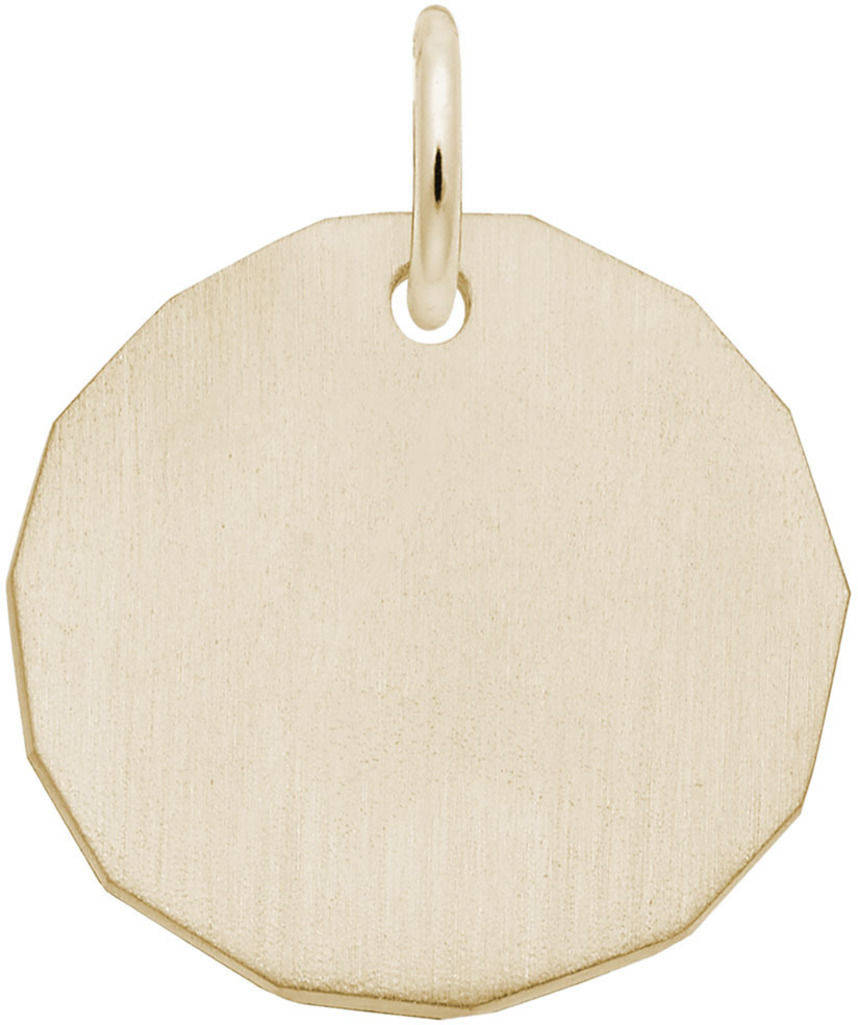 Plain Charm Tag Charm (Choose Metal) by Rembrandt
