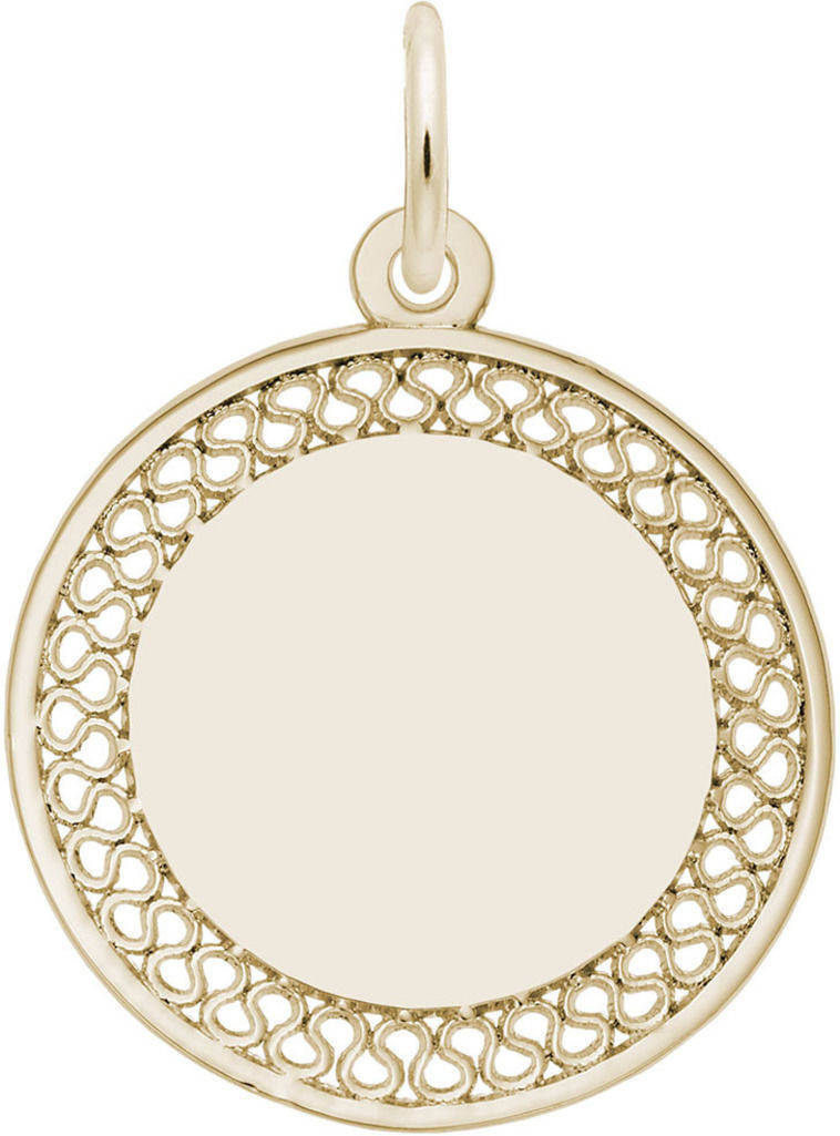 Medium Filigree Charm (Choose Metal) by Rembrandt