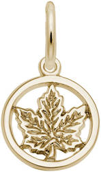 Cutout Maple Leaf Charm (Choose Metal) by Rembrandt