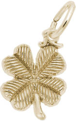 4 Leaf Clover Charm (Choose Metal) by Rembrandt