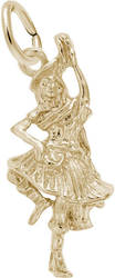 Highland Dancer Charm (Choose Metal) by Rembrandt