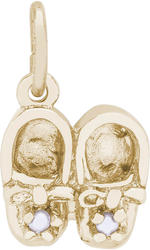 Baby Shoes w/ Simulated Pearls Charm (Choose Metal) by Rembrandt