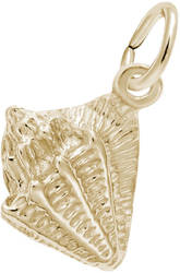 Small Conch Shell Charm (Choose Metal) by Rembrandt