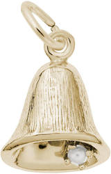 Small Bell Charm w/ Simulated Pearl (Choose Metal) by Rembrandt