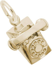 Rotary Phone Charm (Choose Metal) by Rembrandt