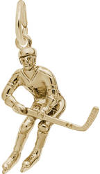 Male Hockey Player Charm (Choose Metal) by Rembrandt