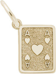 Ace Of Hearts Charm (Choose Metal) by Rembrandt