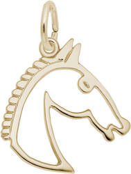 Flat Horse Head Charm (Choose Metal) by Rembrandt