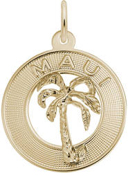 Maui Palm Tree Charm (Choose Metal) by Rembrandt