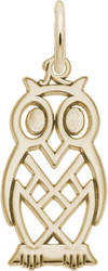 Flat Owl Charm (Choose Metal) by Rembrandt