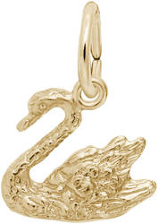 Swan Charm (Choose Metal) by Rembrandt