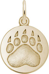 Bear Paw Print Charm (Choose Metal) by Rembrandt