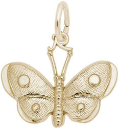 Spotted Wings Butterfly Charm (Choose Metal) by Rembrandt