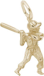 Baseball Player Charm (Choose Metal) by Rembrandt