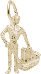 Bull Fighter Charm (Choose Metal) by Rembrandt