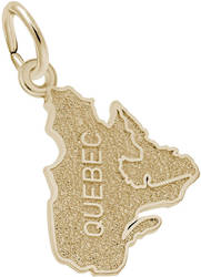 Quebec Map Charm (Choose Metal) by Rembrandt