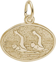 Synchronized Swimming Oval Charm (Choose Metal) by Rembrandt