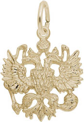 Russian Eagle Charm (Choose Metal) by Rembrandt