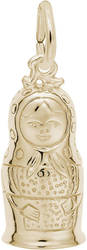 Matryoshka Doll Charm (Choose Metal) by Rembrandt