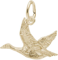 Canadian Goose Charm (Choose Metal) by Rembrandt