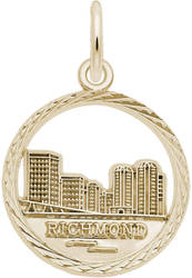 Richmond Skyline Faceted Charm (Choose Metal) by Rembrandt