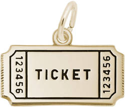 Raffle Ticket Charm (Choose Metal) by Rembrandt