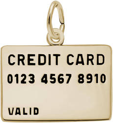 Credit Card Charm (Choose Metal) by Rembrandt