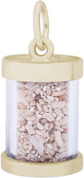 Antigua Sand Capsule Charm (Choose Metal) by Rembrandt