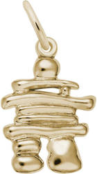 Classic Inukshuk Charm (Choose Metal) by Rembrandt