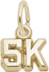 5K Race Charm (Choose Metal) by Rembrandt