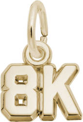 8K Race Charm (Choose Metal) by Rembrandt