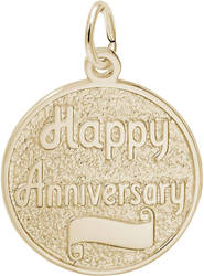 Happy Anniversary Disc Charm (Choose Metal) by Rembrandt
