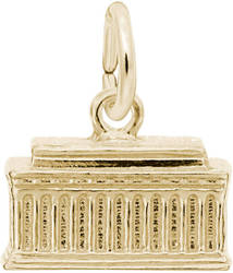 Lincoln Memorial Charm (Choose Metal) by Rembrandt