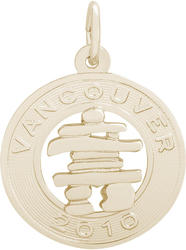 Vancouver Inukshuk Ring Charm (Choose Metal) by Rembrandt