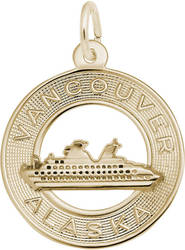 Vancouver Alaska Cruise Ship Ring Charm (Choose Metal) by Rembrandt