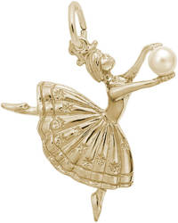 Dancer w/ Simulated Pearl Charm (Choose Metal) by Rembrandt