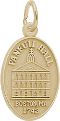 Faneuil Hall Oval Charm (Choose Metal) by Rembrandt
